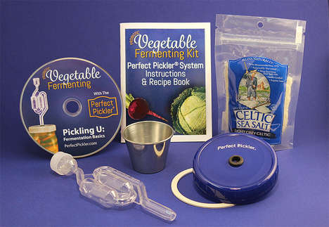 Veggie Fermenting Kits - This Vegetable Fermentation Kit Has Everything Needed to Get Started