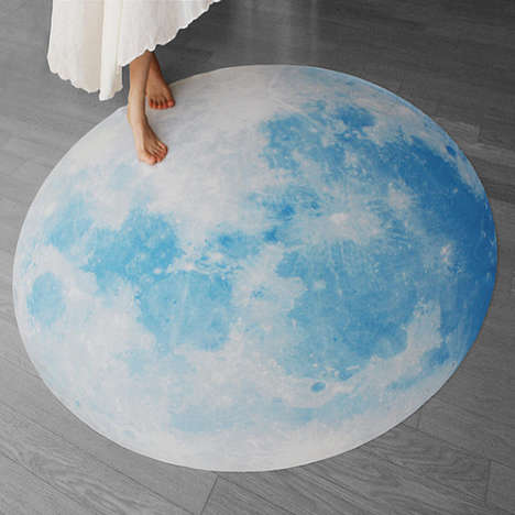 Celestial Moon Mats - The Full Moon Picnic Rugs Feature a Realistic Print of the Moon's Surface