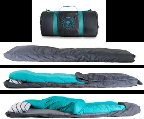 Self-Inflating Sleeping Bags - The Bundle Bed is a Sleeker Version of a Sleeping Bag made for Travel