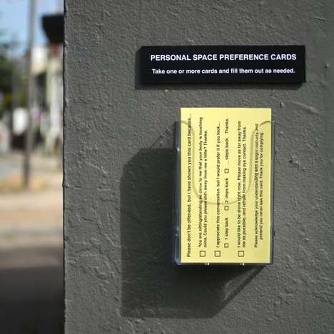 Personal Space Cards - Street Artist Michael Pederson Creates Helpful Forms to Keep People Away