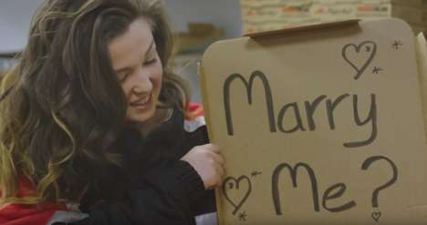 Pizza Box Proposals - In the UK, Pizza Hut Helps to Orchestrate a Sweet Leap Year Proposal