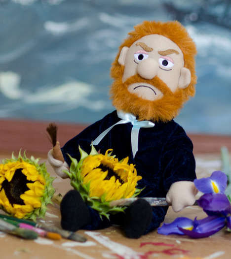Mutilated Artist Dolls - This Vincent Van Gogh Plushy Comes with a Removable Ear