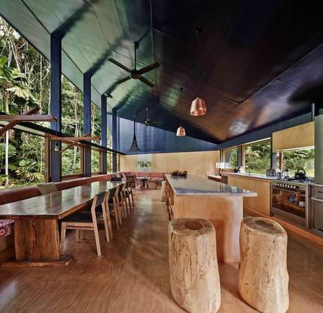Rustic Rainforest Retreats - The Cape Tribulation House is Located in the Australian Rainforest