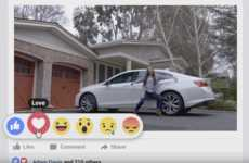 Expressive Automotive Ads - This Chevrolet Ad Explores the Facebook Emojis with 'From Like to Love'