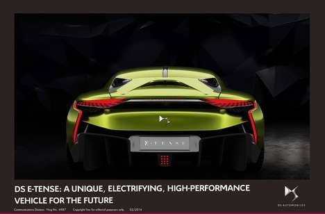 Avant-Garde Electric Cars - This DS Automobiles Creation Features Cutting-Edge Vehicular Tecchnology