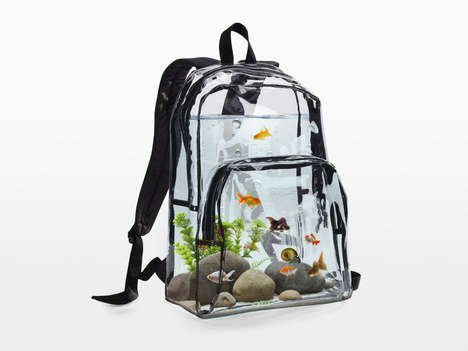 Portable Aquarium Knapsacks - This Clear Backpack is Designed to Sustain an Aquatic Ecosystem