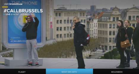 Payphone Tourism Campaigns - Brussels Tourism Was Promoted by Connecting Internet Users and Locals