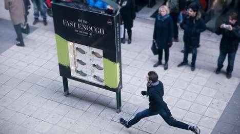 Speed-Testing Sneaker Billboards - Reebok's Running Challenge Gives Free Sneakers to Fast Runners