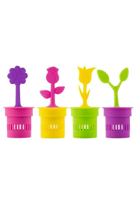 Floral Bug Repellent Ornaments - This Decorative Flower Pot Boasts Mosquito-Repelling Properties