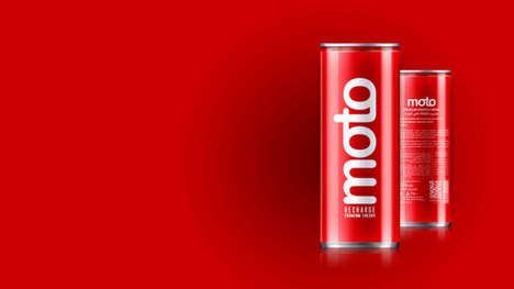 Subtle Luxury Energy Drinks - The 'Moto' Premium Energy Drink Focuses on Luxury Lifestyles