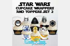 Galactic Cupcake Sets - The Star Wars Cupcake Set Helps You Bake with the Force