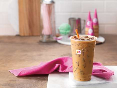 Pistachio-Flavored Coffees - The New Pistachio Iced Coffee from Dunkin' Donuts Boasts a Nutty Flavor