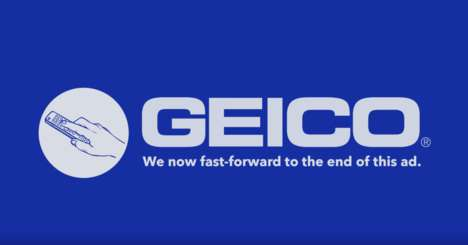 Fast-Forwarded Insurance Ads - Geico's Newest Pre-Roll Ads Do the Skipping for Viewers