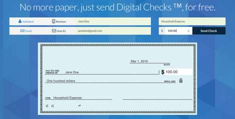 Digital Check-Depositing Apps - The Checkbook App Allows User to Email Digital Checks