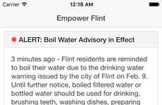 Water Crisis Response Apps - The Empower Flint App Tool Helps Residents Evade Lead Contamination