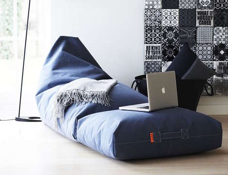 Weather-Resistant Casual Furniture - The Felix Bean Bag Lounger is Designed for Use Indoors or Out