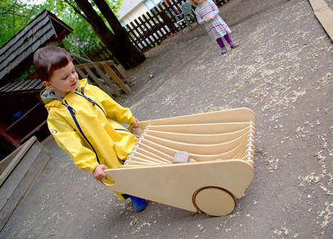 Two-in-One Juvenile Wheelbarrows - The 'Nest' Draws Inspiration from a Garden Wheelbarrow