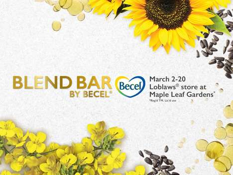 Margarine Culinary Pop-Ups - The Becel Blend Bar Highlights the Brand's Versatile Product Range