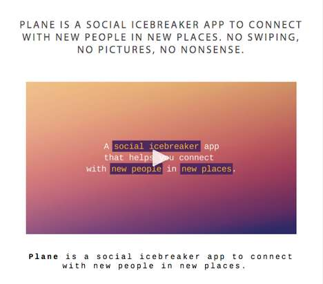 Social Icebreaker Apps - The Plane App Helps You Connect with New People with Less Awkwardness