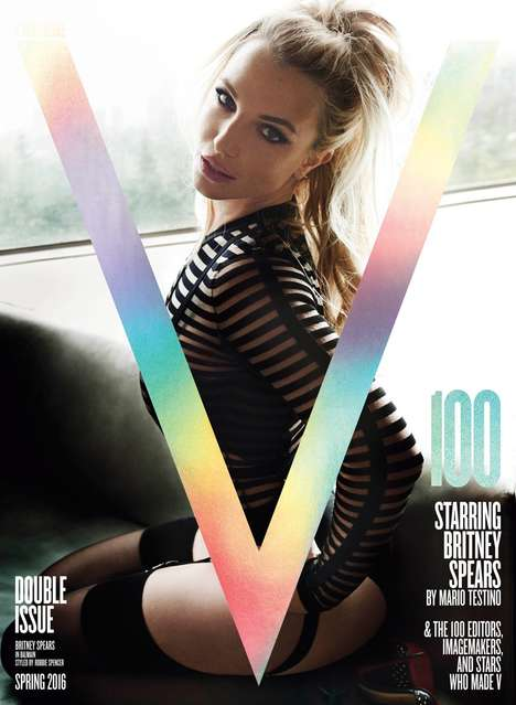 Edgy Sensual Editorials - The V Magazine 100 Issue is Covered by Britney Spears