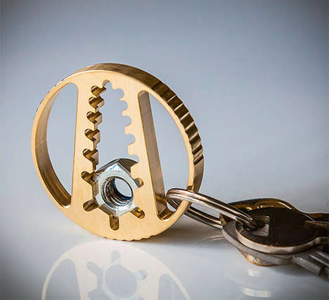 Circular Wrench Keychains - The Pocket Wrench Tool Offers the Same Functionalities in a Compact Size