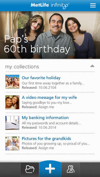 Sentimental Insurance Apps - The MetLife Infinity App for Insurance Stores Documents and Memories