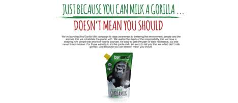 Gorilla's Milk Beverages - This Company is Now Selling Raw Primate Milk in Squeezable Pouches