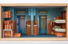Miniature Cinematic Sets - Mar Cerdà Recreates Wes Anderson Film Settings on a Minuscule Scale