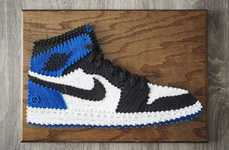 Sneaker String Art - SoleStitches Recreates Iconic Sneaker Silhouettes with String