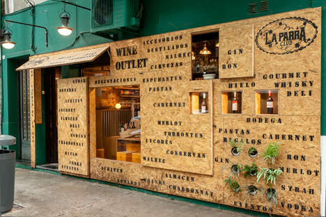 Carton-Inspired Wine Shops - La Parra Winery Opens a Vintage Shop that Looks Like a Box of Wine