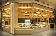 Galleria Sushi Kiosks - This Taka Sushi is Located Within a Mall in Australia