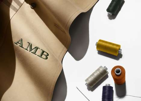 Branded Customization Services - The Burberry Monogramming Service Lets Shoppers Personalize Goods
