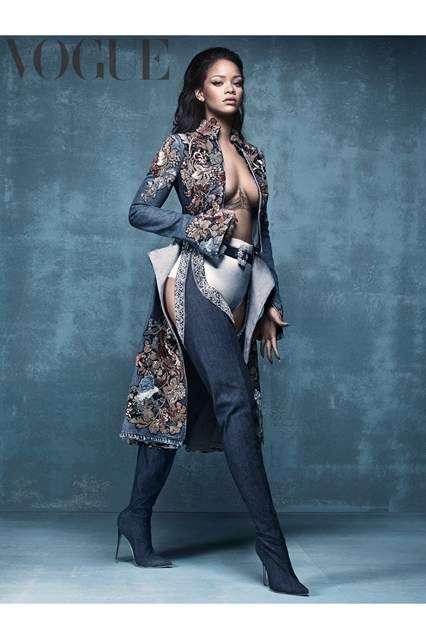 Songstress Denim Footwear - Rihanna's Denim Dessert Collection is Full of Statement-Making Footwear