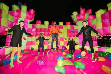 Multi-Sensory App Activations - The Candy Crush Castle is a Scented Bouncy Castle for Adults