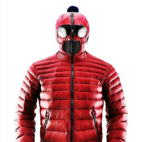 Quilted Superhero Jackets - This Winter Coat is a Wearable Version of the Deadpool Costume