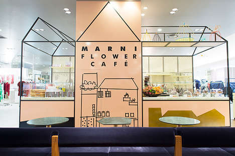 Fashion Label Cafes - The Marni Flower Cafe Features a Menu of Decadent Italian Treats