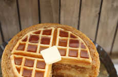 Hybrid Waffle Cakes - The Maple Dessert Features Sponge Layers Infused with Waffles