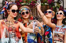 Opulent Designer Eyewear - The Latest Collection of Dolce & Gabbana Sunglasses Celebrates Color