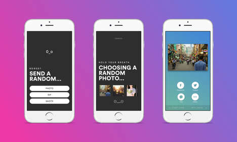 Randomized Sharing Apps - Social Sharing App Rando Picks a Photo, GIF or Quote On Your Behalf