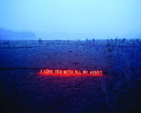 Neon Love Words - Jung Lee Professes Her Feelings in a Heart-Wrenchingly Artistic Way