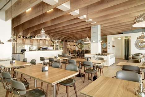 Seafaring Lakeport Restaurants - This Romanshorn Restaurant Boasts an Interior Inspired by Ships