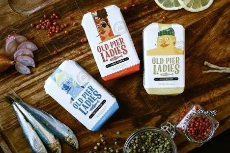 Narrative Sardines Branding - Old Pier Ladies is a Product Concept for Tinned Seafood