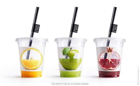 Interactive Juice Cups - Backbone Branding Created a Playful Design Concept for To-Go Containers