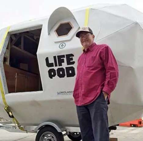 Towable Tiny Homes - The Life Pod Can Easily Be Transported Around By Car