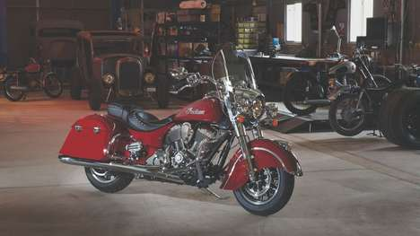 Brashly Versatile Motorbikes - The Springfield Indian Motorcycle Switches Between Riding Modes