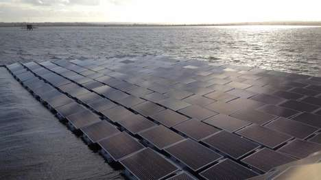 Floating Solar Arrays - This Solar Array Will Be Situated On the Queen Elizabeth II Reservoir