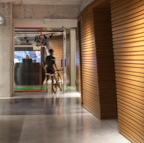 Bike-Friendly Offices - Perkins+Will Designed an Indoor Track and Custom Bike Racks for SRAM