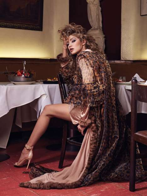Fierce Gown Photoshoots - The CR Fashion Book Gigi Hadid Editorial is Elegantly Edgy