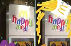 Social Fast Food Geofilters - McSnaps Were Special Geofilters Accessible Only at McDonald's Stores