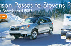 Ski Pass Dealership Promotions - This Subaru Dealership Offered Free Ski Passes to a Local Resort